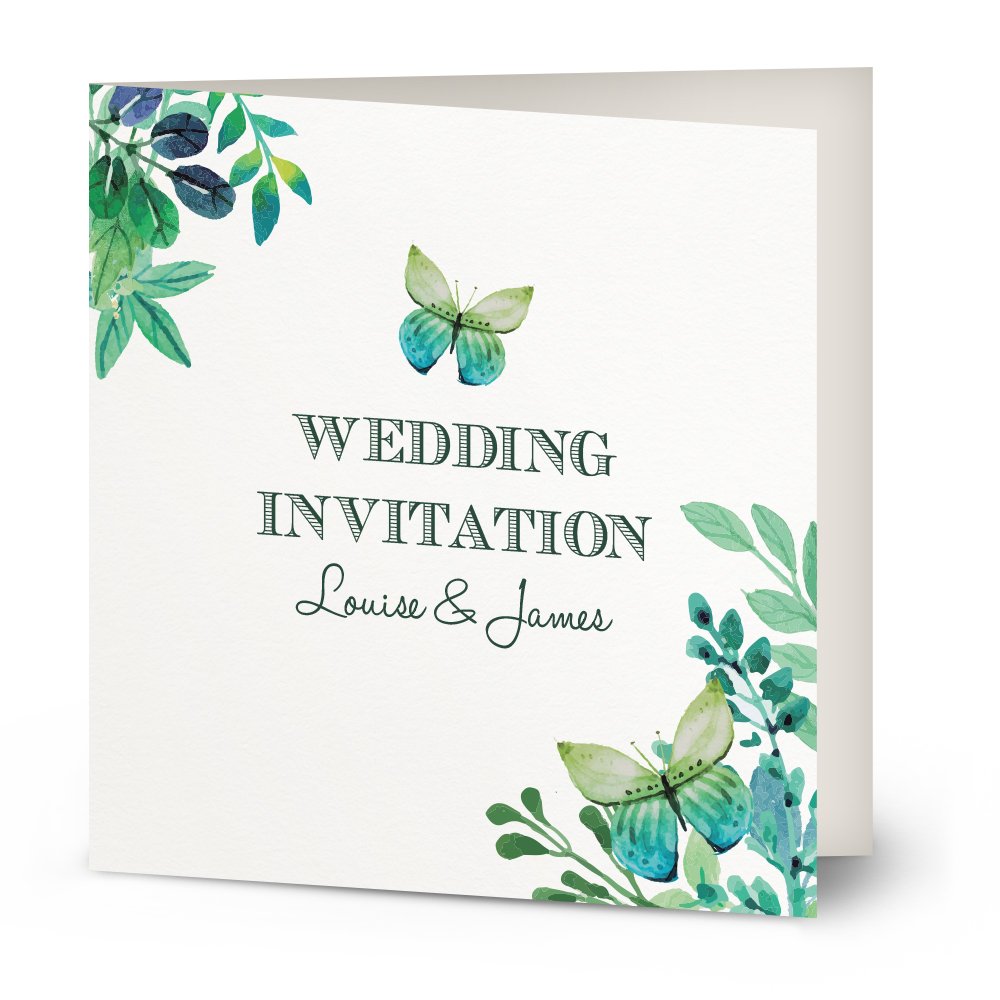watercolour butterfly wedding invitation butterfly wedding invitations x34 Wedding Invitation