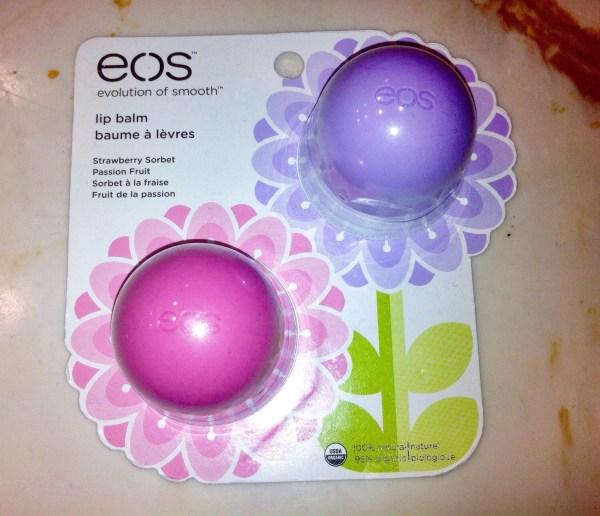 Spring EOS lip balms