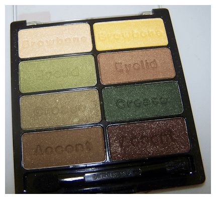 urban jungle close up flash Black Radiance 8 Pan Palette Swatches