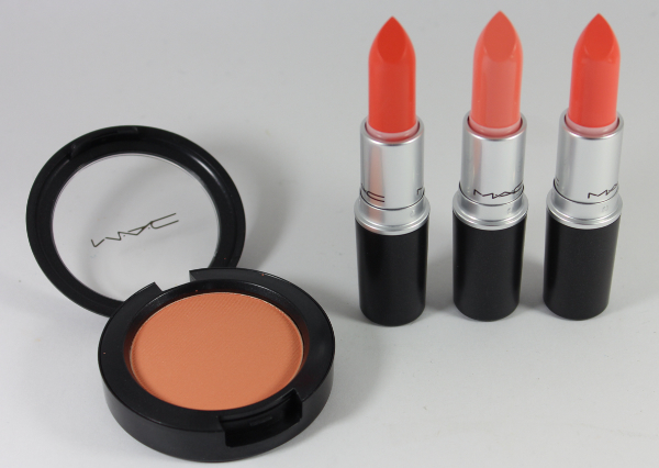 MAC all about orange haul MAC All About Orange Swatches