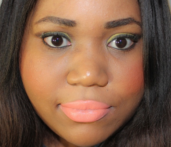 MAC sushi kiss lipstick full face heavy MAC All About Orange Swatches