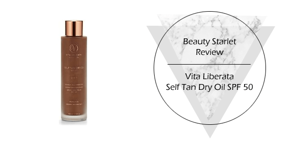 Vita Liberata Self Tan Dry Oil SPF 50 review beautystarlet copy