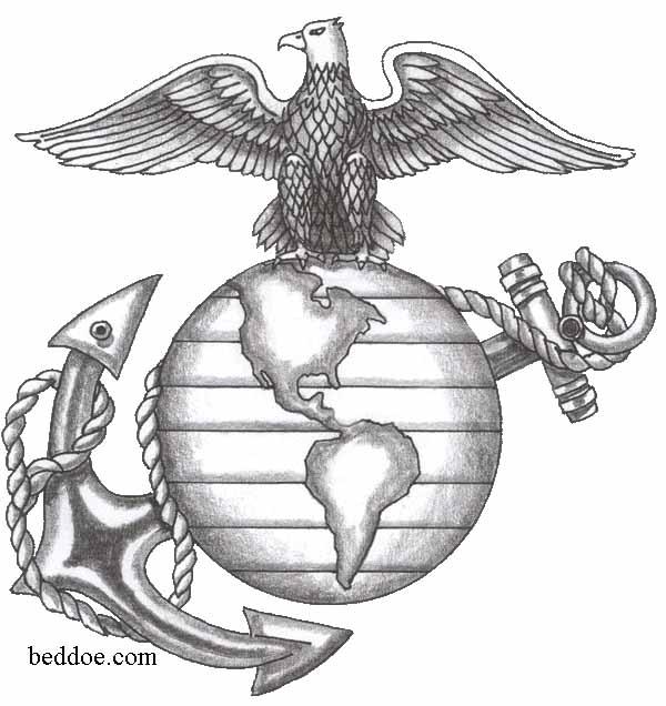 usmc tattoo ega stencil eagle globe anchor line art. Black Bedroom Furniture Sets. Home Design Ideas