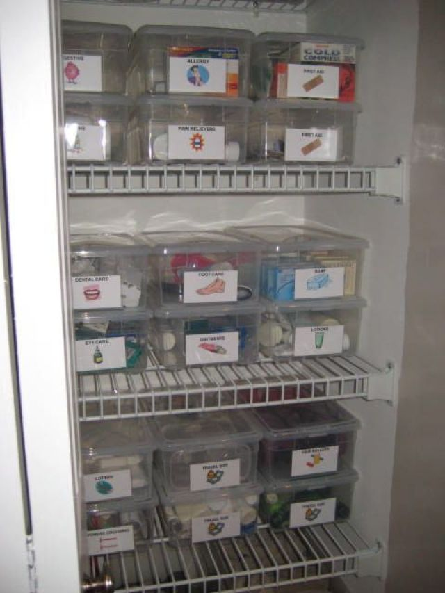 Ranger son armoire pharmacie bee organis e - Comment ranger son armoire a linge ...