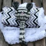 handmade crochet baby rattle