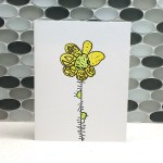 Spiney Flower Note Card