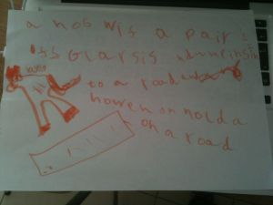 Things you write when you are five...