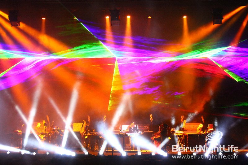 Another concert with the We Group: Jean Michel jarre Lights up Beirut skies