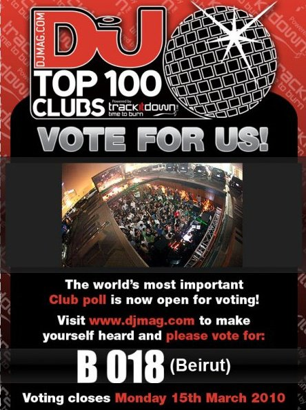 Vote for B018 in DJmag's Top 100 Clubs of 2011