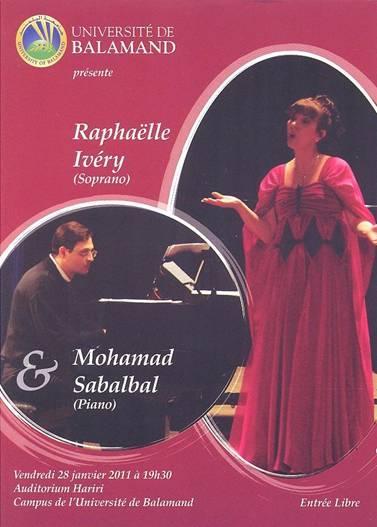 University Of Balamand Present Raphaelle Ivery And Mohamad Sabalbal