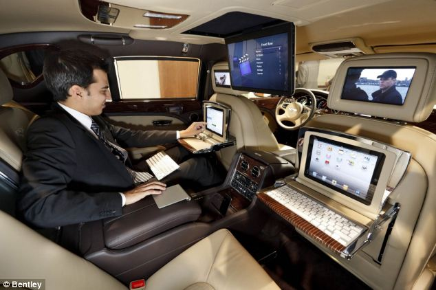 Luxury Car Bentley Releases New Model With a Built In Office