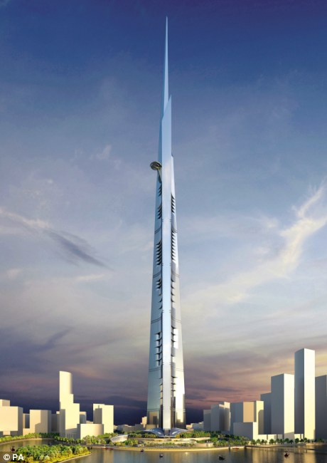 The Saudi Shard: Skyscraper at ONE KILOMETRE high
