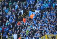 Gent fans at Club Brugge