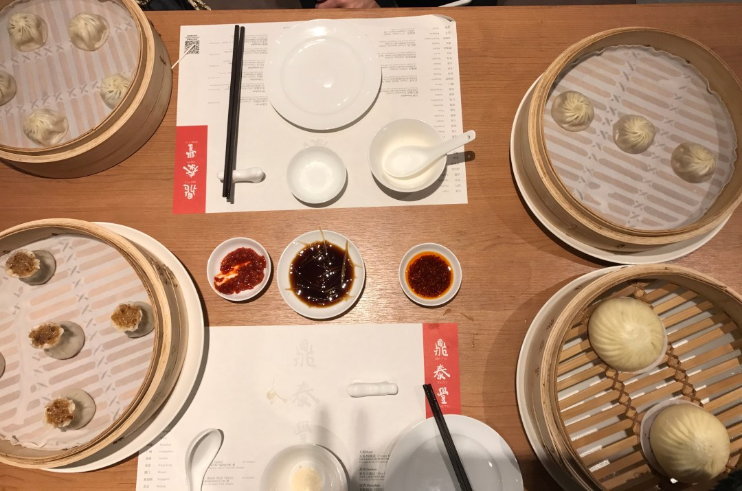 Dim sum for days at Din Tai Fung in Shanghai.