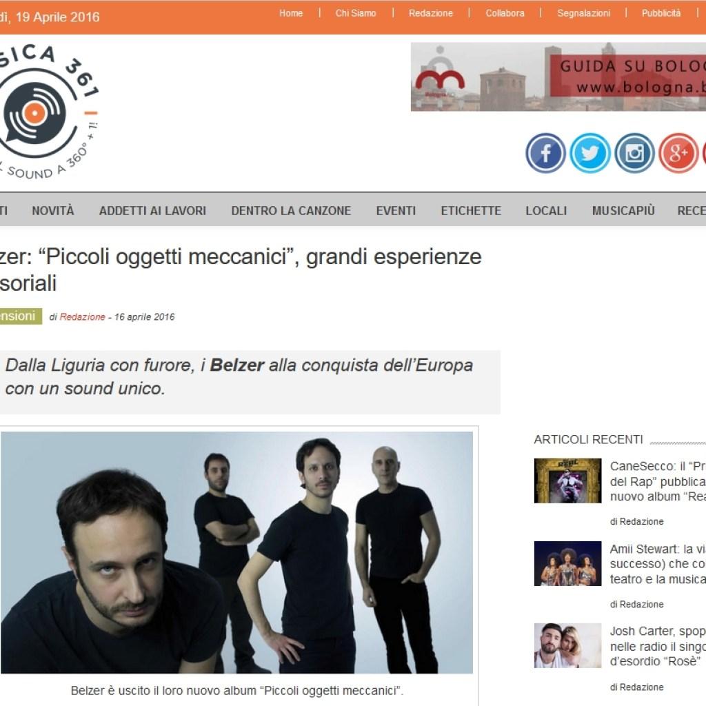 Bollettino stampa recensione Musica 361