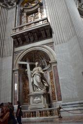 St. Helena holding the True Cross, by Andrea Bolgi