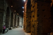 Inside the walls of the Colosseum