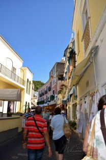 beautiful streets in Capri