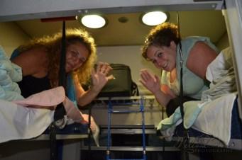 Ladies get the top bunk!