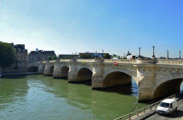 The Pont Neuf is the oldest standing bridge across the river Seine