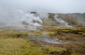 The Geysir field is situated at the northern edge of the southern lowlands