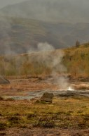 The Icelandic geysers in active geothermal field
