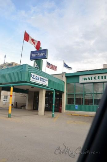 Travellodge Winnipeg for the night.