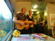 'Artist's On Board' the Via Rail Train from Jasper to BC, Justine & Dennis