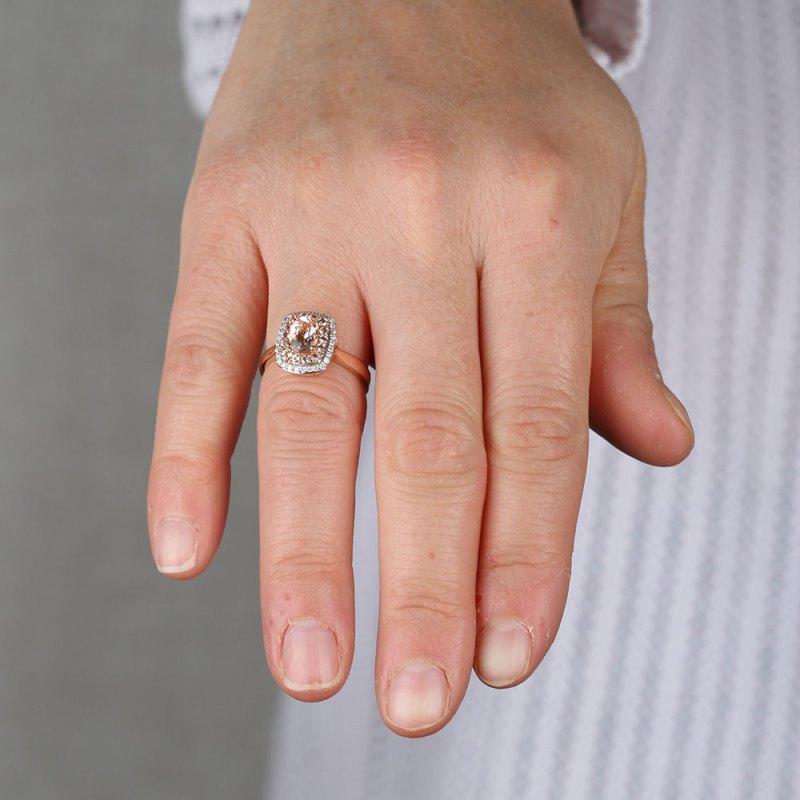 Large Of Rose Gold Morganite Ring