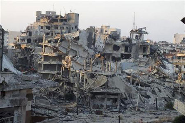 Homs has been completely destroyed
