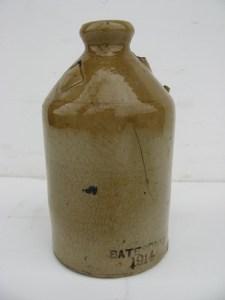 Burton-in-Lonsdale pottery. Bottle.