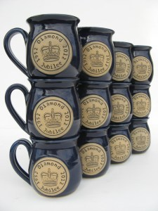 named mugs produced at Bentham Pottery