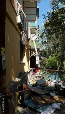 Балкон в Бердичеве обвалился