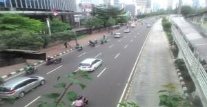 Driver Go-Jek Ikut Konvoi di Jl MH Thamrin
