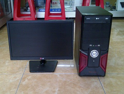 jual pc komputer bekas intel dual core  led monitor 19 inch 1 jutaan malang 1278230 1455879508 1 PC Home murah second