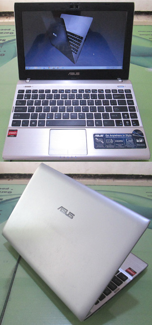 Laptop Second ASUS 1225B silver 1 Netbook Asus 1225B Amd bekas