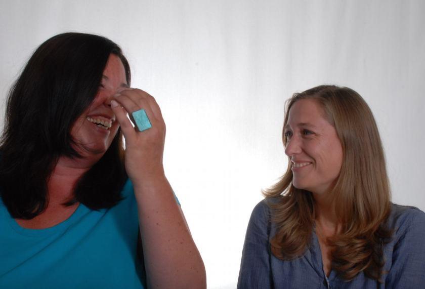 Die Sammlerinnen glücklicher Urlaubsorte: Kirsten und Britta