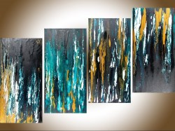 Best G Abstract Wall Art Well Liked Black Regard To Meteor Shower Iiqiqigallery 48x24 Original Abstract Abstract Wall Art Canvas Pinterest Abstract Wall Art