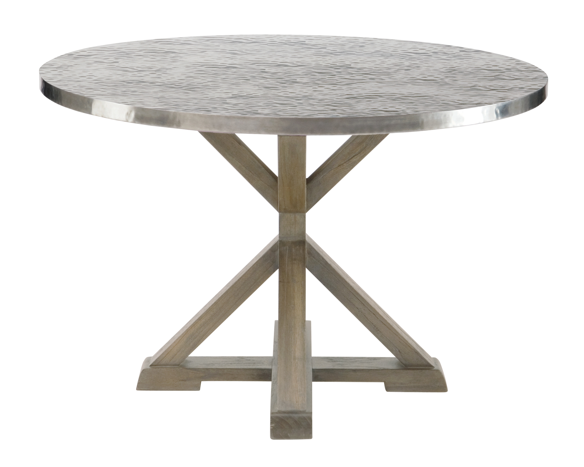 round metal dining table metal kitchen table Stockton Round Metal Dining Table