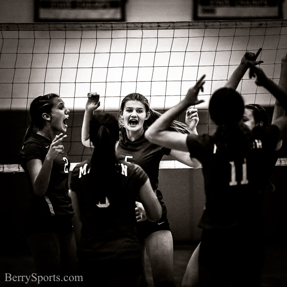 August 25, 2016. MCHS Varsity Volleyball vs Orange. Madison wins 3-1.