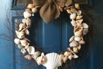 diy shell wreath