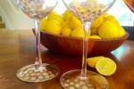 Kate Spade Inspired DIYgold polka dot wine glasses