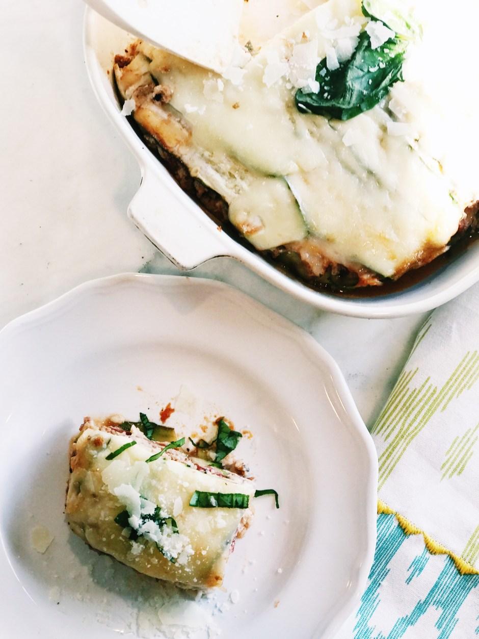 gluten free, low carb dinner, zucchini lasagna recipe