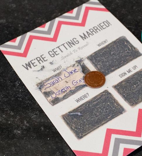 Scratch Weddings: DIY Scratch Card Wedding Invitations