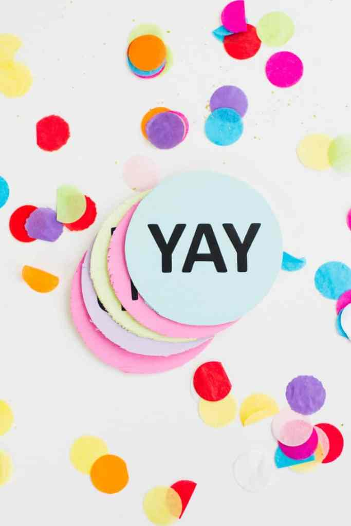 Coaster-DIY-party-mems-fun-colourful-typography-font-hooray-lets-party-OMG-pastels-chin-chin-yay-new-years-eve-party-DIY-tutorial-4