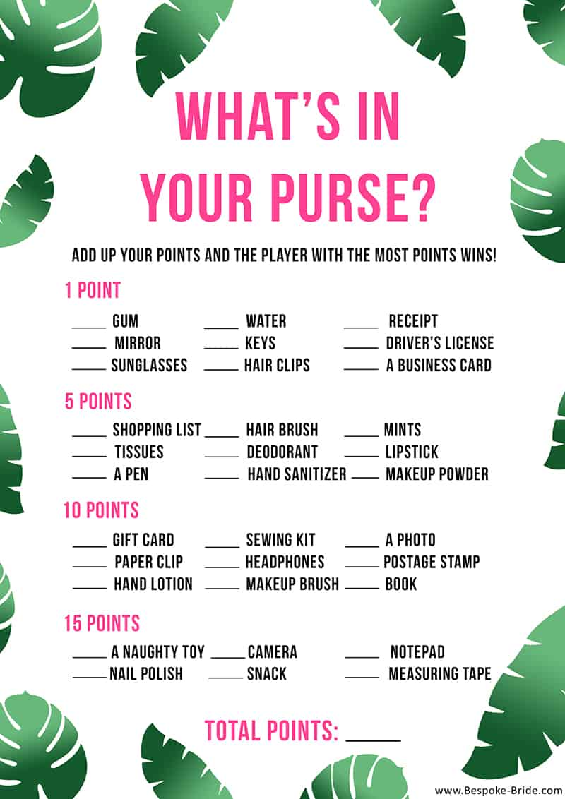How to Pack Your Purse