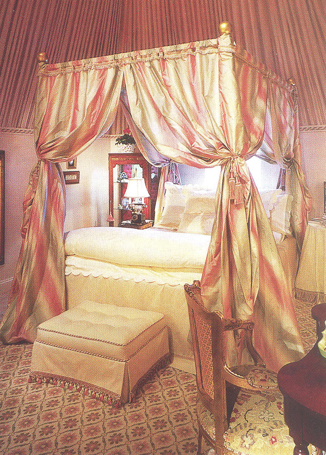 Spread the word! & Silk bed canopy with custom bedskirt | Bessie Mendler