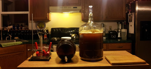 Preparing to bottle a Centennial IPA recipe