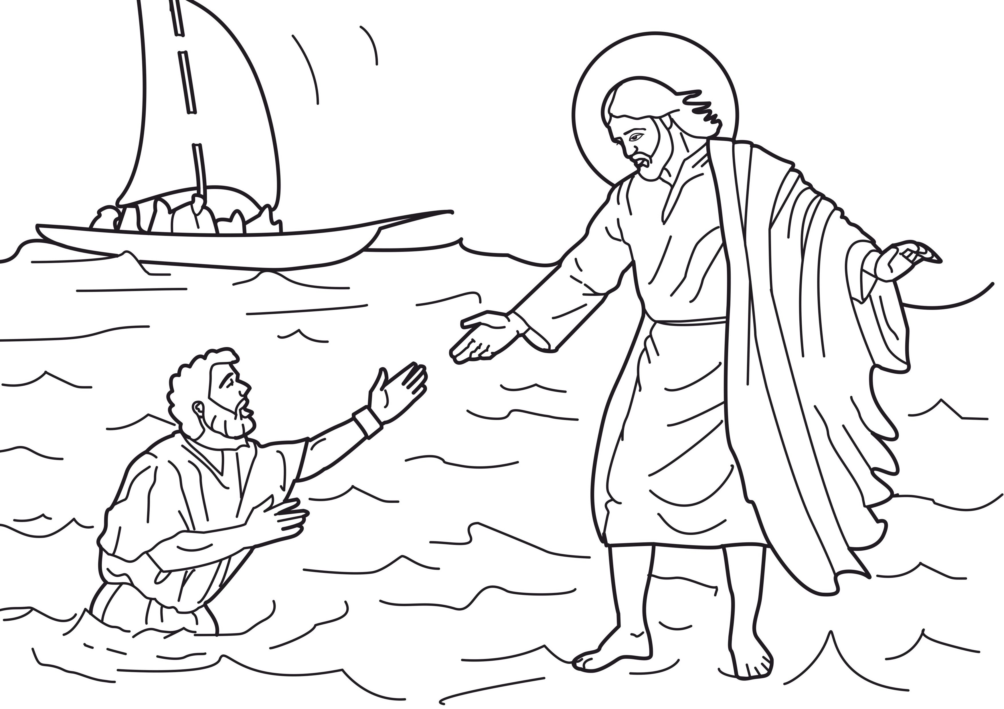 Free The Temptation Of Jesus Coloring Pages