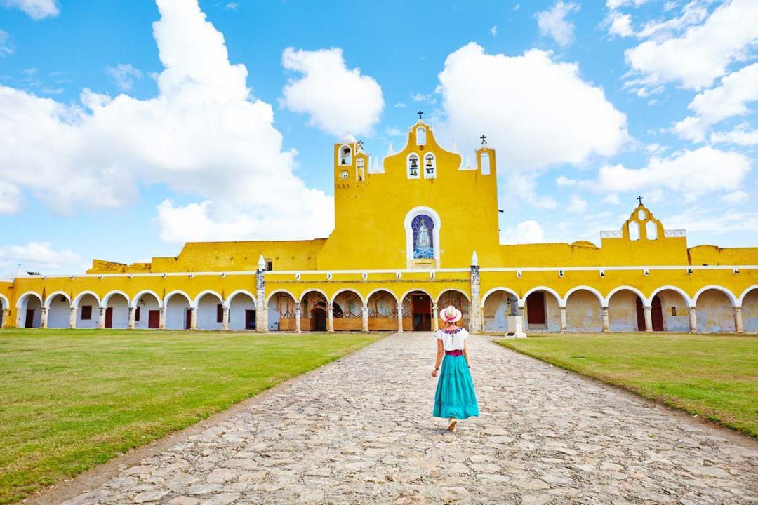 Izamal ville jaune mexique
